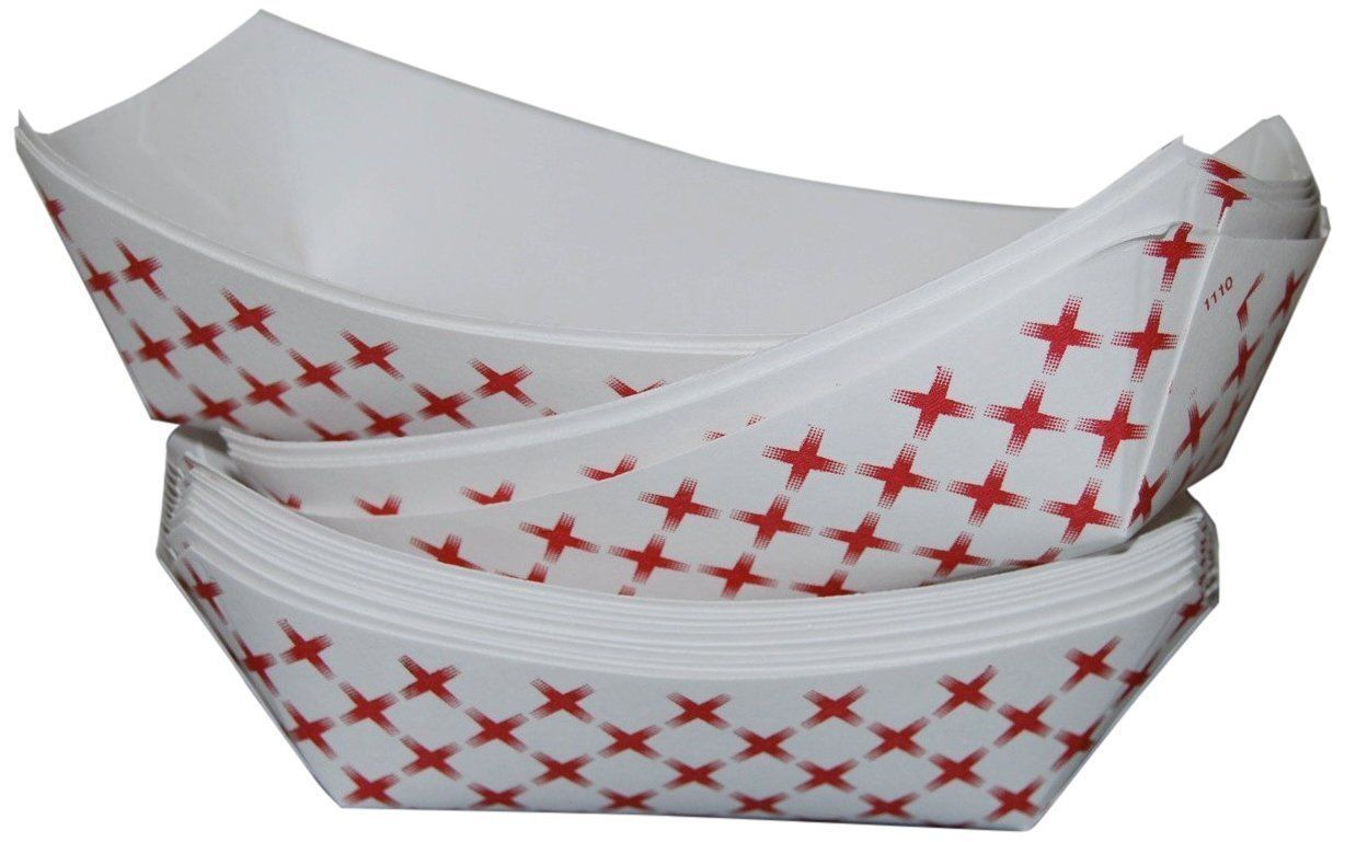 """Paper Food Tray 250 ct Party Supply Serving Burgers Snack Food 5.5''x 7''x 1.5"""""""