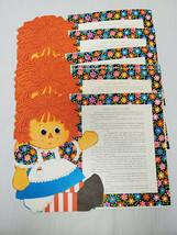 ORIGINAL Vintage 1970s Raggedy Ann Hallmark Placemats Set of 6 - $18.49