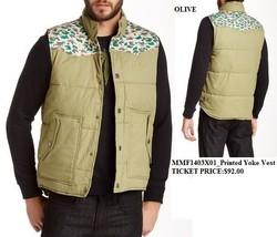 Sleevless Vest Jacket Olive Sleeveless Bubble Vest Jacket Marley Casual ... - $45.12