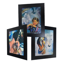 3 Dimension 3D Lenticular Picture Native American Tattoo Girl White Horse Wolf - $21.28