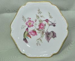Mitterteich Bavaria 8 inch plate Hummingbird Flowers - $10.00