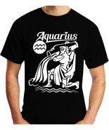 Men t shirt aquarius zodiac thumbtall