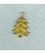 Mamselle Christmas Tree Pin Brooch Golden Branches Faux Pearl Topper Sig... - $29.99