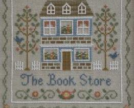 The Book Store cross stitch chart Country Cottage Needleworks