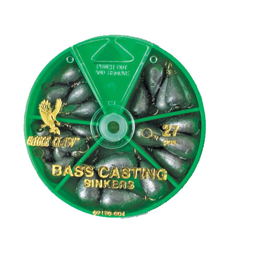 Eagle Claw  Sinker Assortment Bass Casting (Per 27)