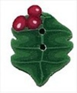 Tiny Holly 4447t handmade clay button Just Another Button Company - $1.80