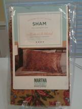 Martha Stewart  Sham (1)  MSGARDENPA  Brown Paisley Standard Size New - $7.82
