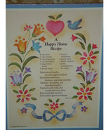 Wall Plaque A Happy Home Recipe - $7.00
