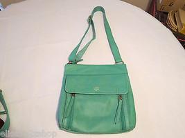Fossil  SHB1086116 Aspen Traveler Sea Glass Top Zip Leather purse **spots* NWT^^ - $148.49
