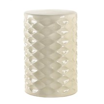 Ivory Faceted Ceramic Stool - $99.95