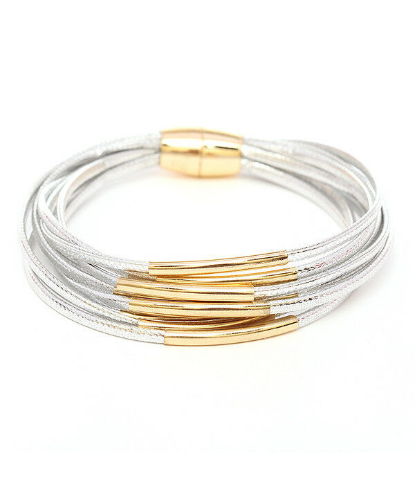 Primary image for Multi Cord with Strands Bracelet Sterling Silver NEW
