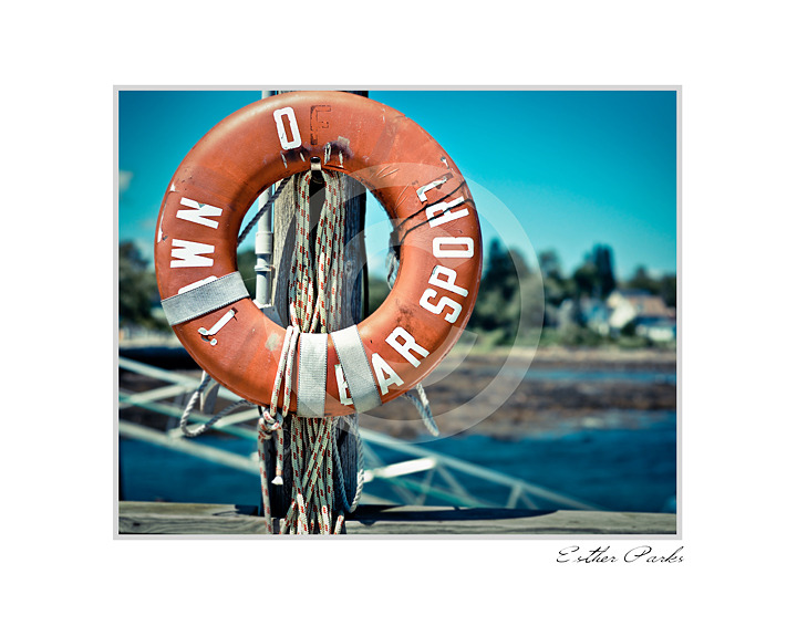 'Old Life Ring' (Searsport , Maine) Fine Art Print - 8x10 print matted to11x14