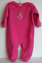The Children's Place 12 months fucshia Sleeper Footless 12 months with bunny  - $4.94