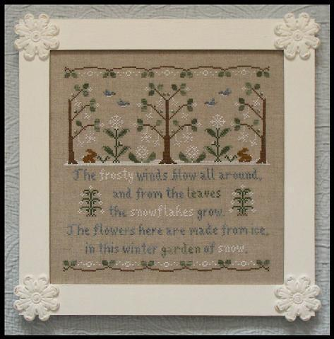 Garden of Snow winter holiday cross stitch chart Country Cottage Needleworks