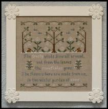 Garden of Snow winter holiday cross stitch chart Country Cottage Needleworks - $7.20