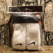 Nike Men's Performance Cotton Cushioned Crew Socks 6 Pairs Color White S... - $15.73