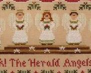 Hark the Herald Angels Sing cross stitch chart Country Cottage Needleworks