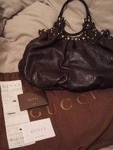 Authentic Brand New Never Used Gucci Guccissima Pelham Medium Brown Leather - $1,199.00