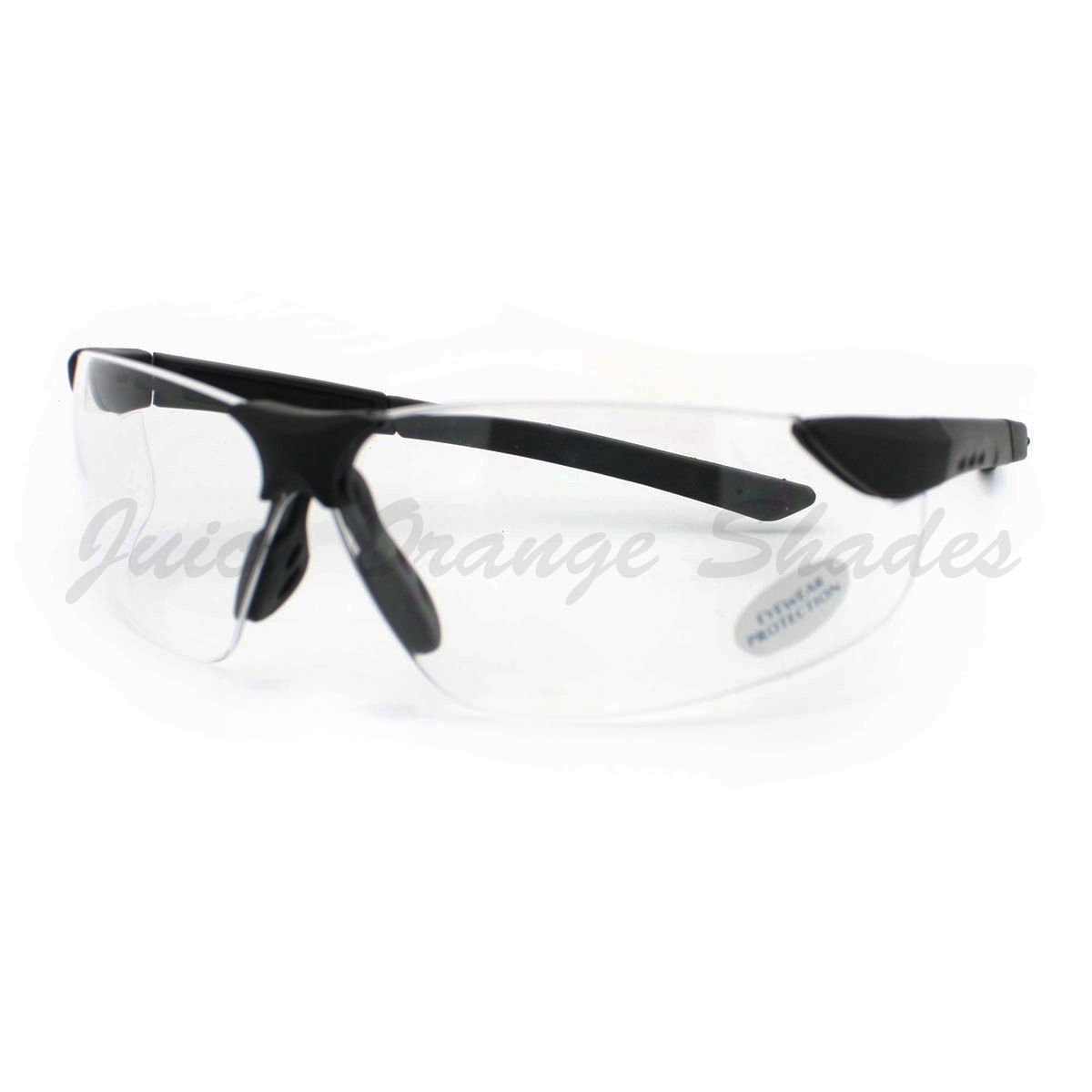 Safety Eyewear Clear Lens Glasses Protects from Dust/Wind Rimless Sporty Frame