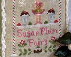 Sugar Plum Fairy holiday cross stitch chart Country Cottage Needleworks