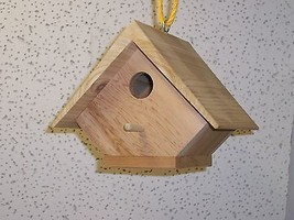 Wood-In-Things.com Small Birdhouse,Half diamond Cedar,clean-out - $24.95