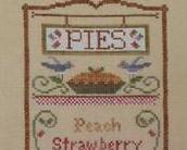 Pie Menu cross stitch chart Country Cottage Needleworks