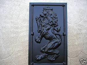 "Giant 19x34x2"" Mold Makes Celtic Scottish Rampant Lion (Left Facing) Wall Plaque"