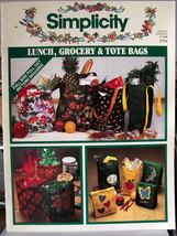 Simplicity Lunch Grocery & Tote Bags to sew - $6.99
