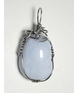 Jemel .925 SS Wire Wrapped Blue Lace Agate Pendant - $47.08 CAD