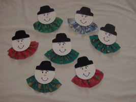 Snowman pin or frig. magnet - $3.50