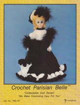 Parisian Belle, Td Creations Crochet Doll Clothes Pattern Booklet PRE-757 - $3.95