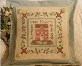 Rose Cottage cross stitch chart Country Cottage Needleworks - $7.20