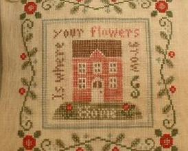 Rose Cottage cross stitch chart Country Cottage Needleworks