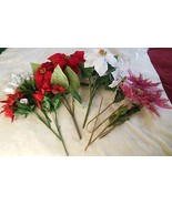 Lot of Artificial Christmas/Holiday Flowers  - $28.22