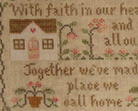 A Place We Call Home cross stitch chart Country Cottage Needleworks