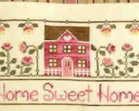 Home Sweet  Home cross stitch chart Country Cottage Needleworks