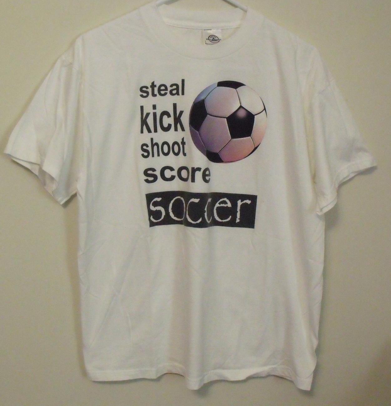 Mens delta white soccer t shirt large