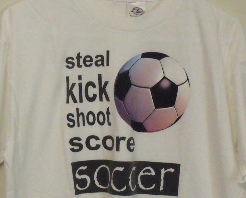 Mens Delta White Soccer Short Sleeve T Shirt Size Large