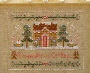 Gingerbread Cottage holiday cross stitch chart Country Cottage Needleworks