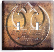 STAR WARS REBEL ALLIANCE JEDI ORDER DOUBLE LIGHT SWITCH WALL PLATE NY RO... - $13.99