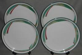 Set (4) Noritake Stoneware New West Pattern Dinner Plates - $63.35