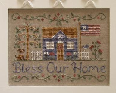 Bless Our Home cross stitch chart Country Cottage Needleworks