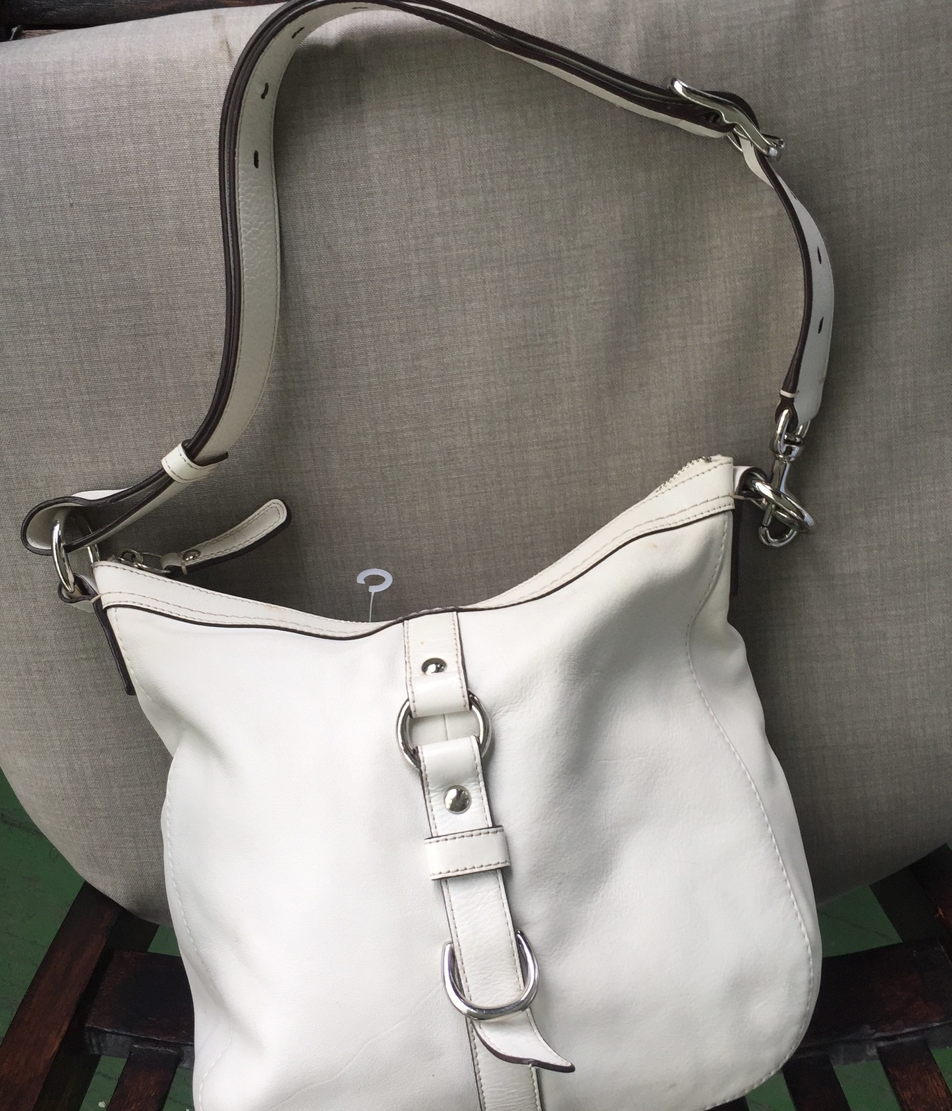 8854ac7b41aa REDUCED! COACH Chelsea Bone white leather and 50 similar items
