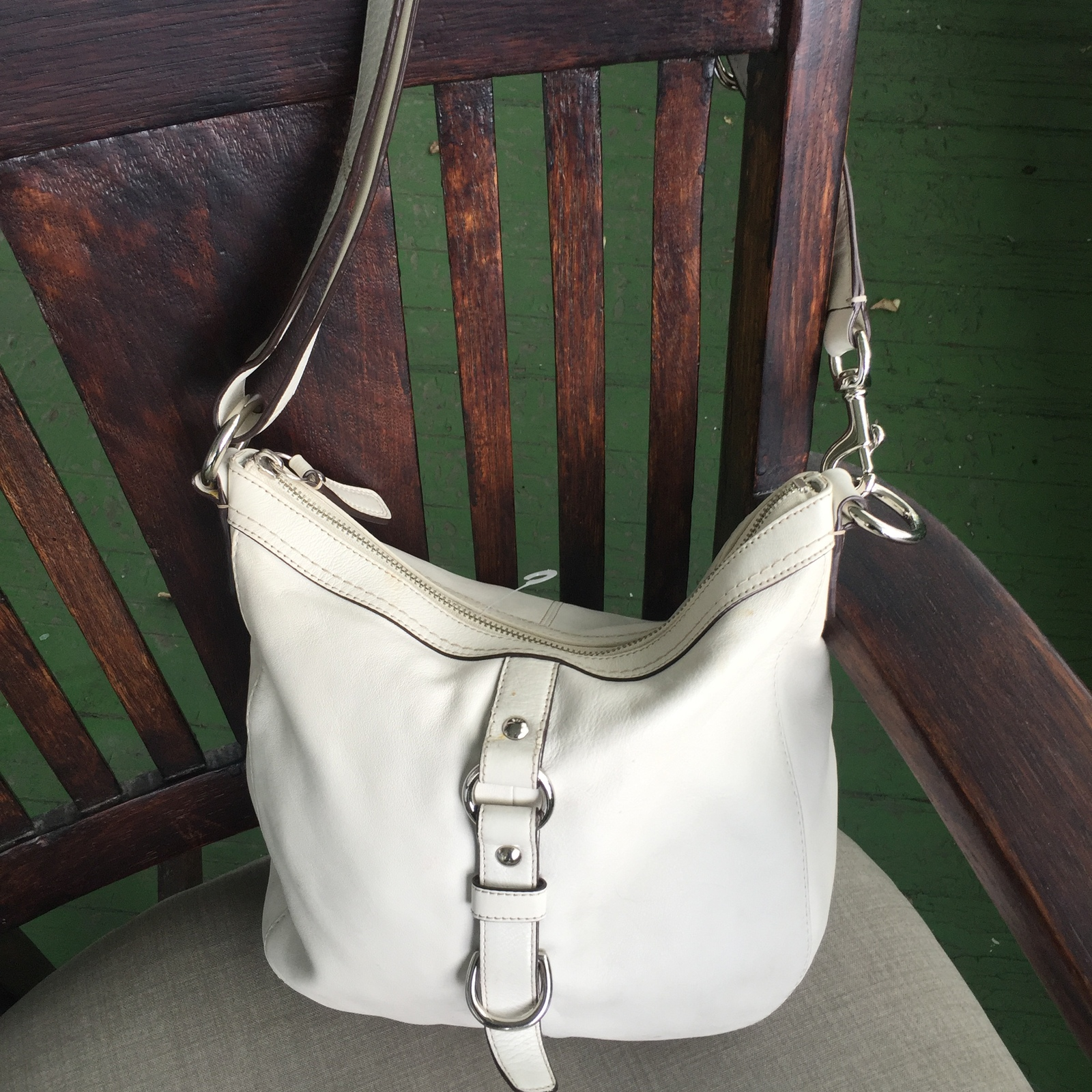 eb2cb8625ed5 Img 5849. Img 5849. Previous. REDUCED! COACH Chelsea Bone white leather  shoulder handbag F14018