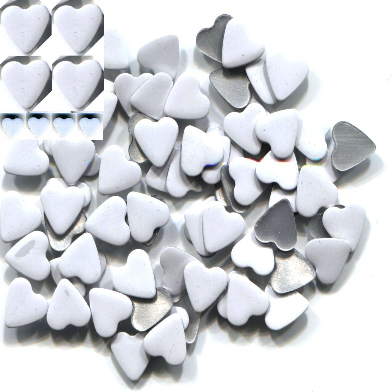 Primary image for HEARTS Smooth Rhinestuds 6mm Hot Fix  WHITE  1 gross
