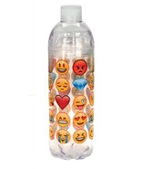 EMOJI covered ACRYLIC WATER BOTTLE with DOUBLE screw on/off top - $10.35