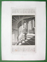 ARCHITECTURE PRINT : FRANCE Inner Staircase at ... - $13.86