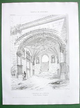 ARCHITECTURE PRINT : FRANCE Perigueux Bishop's Chapel Jardin Chambon - $21.78