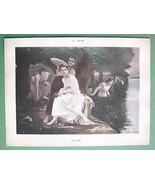 NUDE Young Ladies River Bath - VICTORIAN Color ... - $14.84