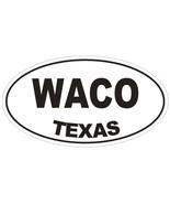 Waco Texas Oval Bumper Sticker or Helmet Sticker D1387 Euro Oval - $1.39 - $75.00